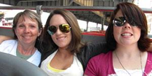 Daughters Kari, Emma and me